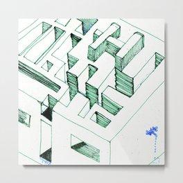 Clay Labyrinth (sketch) Metal Print