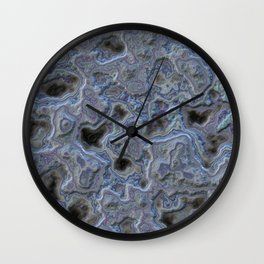 Silver violet gray relief Wall Clock