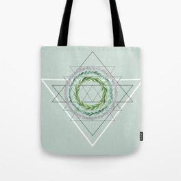 Green Geometric Wreaths Tote Bag