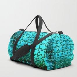 Blue puzzle design Duffle Bag