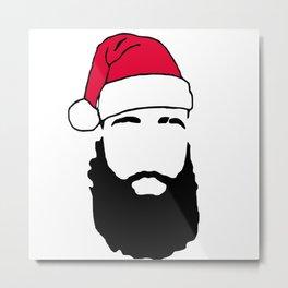James \ The Beard Harden Christmas Metal Print