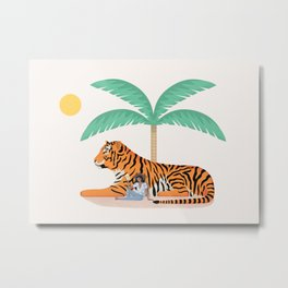 Tiger Paradise Metal Print
