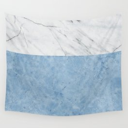 Porcelain blue and white marble Wall Tapestry