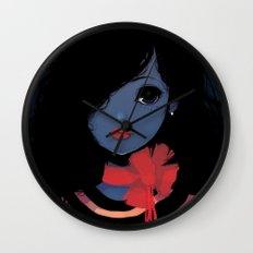 Blue. Wall Clock