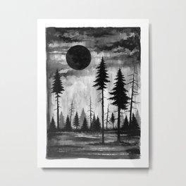 Dark Moon Rising Metal Print
