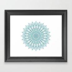 Aqua mandala Framed Art Print