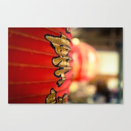 Soft Scarlet in the Hut Canvas Print
