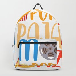 Funny Popcorn Movie and Pizza Film Food Night Backpack