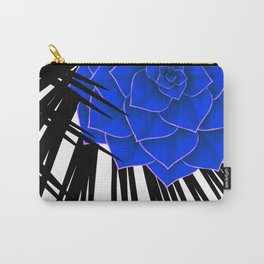 Big Bold Indigo Echeveria Illustration Carry-All Pouch