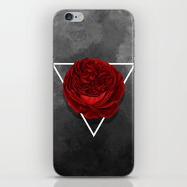 The Rose (black version) iPhone Skin