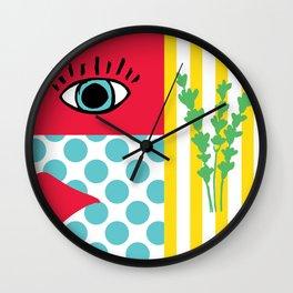 pop art feelings Wall Clock