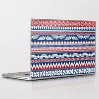 steve rogers Laptop & iPad Skins featuring Tribal Heroes - Steve Rogers by monobuu