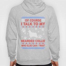 Bearded Collie Ugly Christmas Sweater Hoody