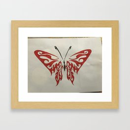 Valletyn butherfly Framed Art Print