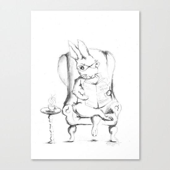 A Good Read [ Rabbit Art ] Canvas Print