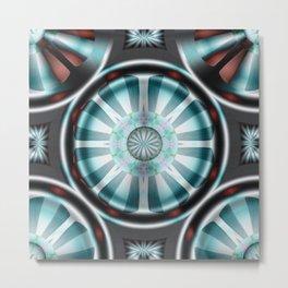 Pinwheel Hubcap in Aqua Metal Print