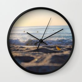 Surfers in the Morning Light Wall Clock
