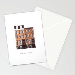 New York, NY Brownstone Stationery Cards