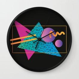 Memphis Pattern 24 - 80s / 90s Retro Wall Clock