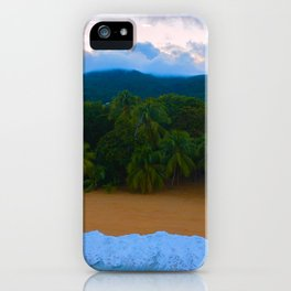 Tropical Guadeloupe Ocean Island Palm Beach Sunset iPhone Case