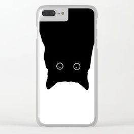 Cat Upside Down Clear iPhone Case