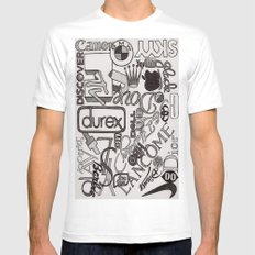 Logo Mania Mens Fitted Tee MEDIUM White
