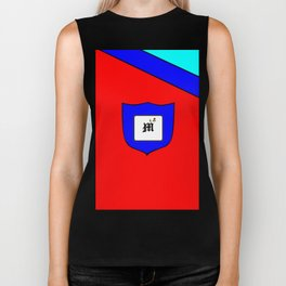 A Family Crest with a Capital Letter M, Mu Biker Tank