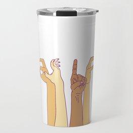 AS IF - hand signs Travel Mug