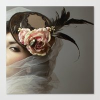hat Canvas Prints featuring hat by Cunene