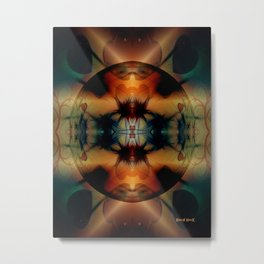 Be Light Metal Print