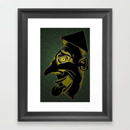 Sinister Man in a Paper Hat Framed Art Print