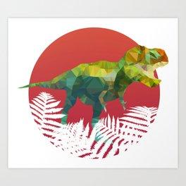 Party Tyrannosaurus Rex Art Print
