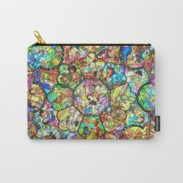 Mickey Mouse and Friends - Stained Glass Window Collage Carry-All Pouch