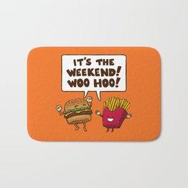 The Weekend Burger Bath Mat
