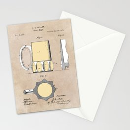 patent Beer Mugs Stationery Cards