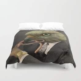 EARLIE BYRD GETS THE WORM Duvet Cover