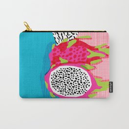Hard Core - memphis throwback retro neon tropical fruit dragonfruit exotic 1980s 80s style pop art Carry-All Pouch