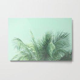 Mint Tropical Palm Metal Print