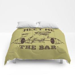 MEET ME AT THE BAR Comforters