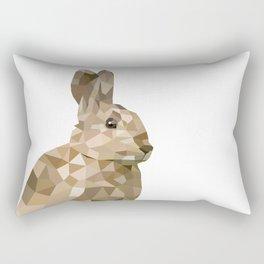 Rabbit Bunny  Geometric animal art Rectangular Pillow