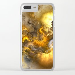 Unreal Stormy Heaven Clear iPhone Case