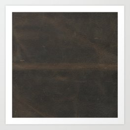 Vintage leather texture Art Print