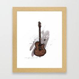 Western guitar Framed Art Print