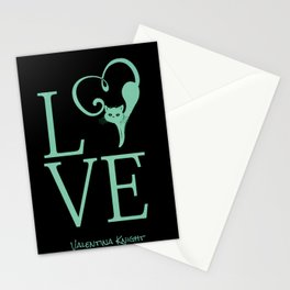 Love Kitty Valentines Love Stationery Cards