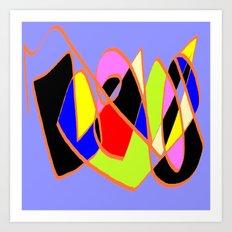 Multicolor blue ign Art Print