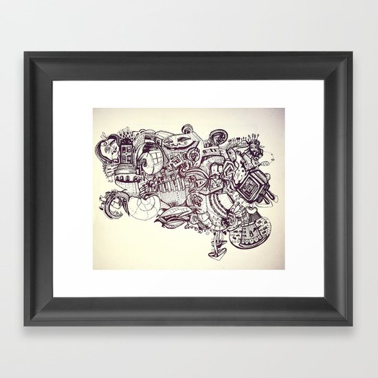 Door to Door Framed Art Print