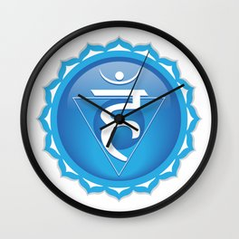 Throat Chakra Symbol Wall Clock