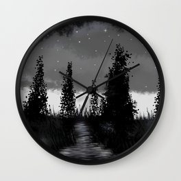 Dark is the night Wall Clock