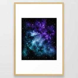 Purple Teal Galaxy Nebula Dream #1 #decor #art #society6 Framed Art Print