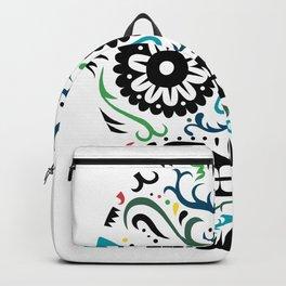 Sugar Skull SF multi -  on white Backpack